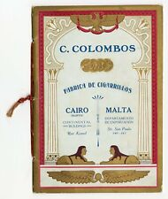 1914-1915 C. COLOMBOS Illustrated Cigarette Price List Booklet, Cairo, Malta, To