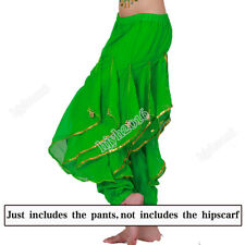 Indian Belly Dance Costume Pants Harem Chiffon Bollywood Carnival Performance #1