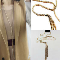 Style Fashion Crystal Bib The Necklace Pendant Chunky Choker Charm Long-Chain