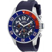 Invicta Men's Watch Pro Diver Chronograph Blue Dial Rubber Strap 30958