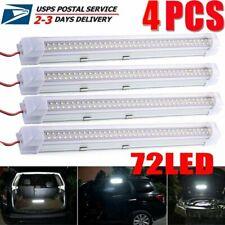 4x 12V 72 LED Interior Light Strip Bar Car Bus Van Caravan ON/OFF Switch 12 VOLT
