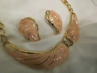 Vintage TRIFARI Enamel Necklace Earrings Set