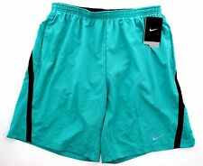 "New Nike Mens Dri Fit 9"" Distance Running Shorts Teal Black 589897 383 Large $48"