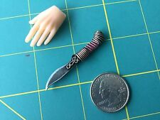 "1:6 Scale  ""Ornate Fantasy"" Knife Custom Steel Miniature By Auret"