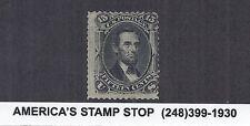 1867 US SC 98, Abraham Lincoln 15c Black - F Grill, 12x17 Points - Mint
