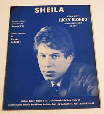 Partition vintage sheet music LUCKY BLONDO : Sheila * 60's Rock