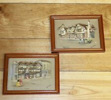 """Clyde Cole Framed  """"Atlas Embossarts"""" Two Print Set -  Red Lion and White Swan"""