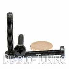 M5 x 35mm - Qty 10 - Phillips Pan Head Machine Screws - DIN 7985 A - Black Steel