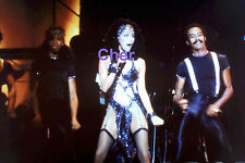 CHER SEXY IN SKIMPY OUTFIT WITH STOCKINGS & DANCERS LAS VEGAS RARE UNSEEN PHOTO