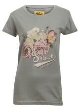 """""""South Beach"""" Ladies Grey Floral T-Shirt - Size Large - BRAND NEW STOCK"""