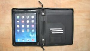 Real Leather A5 folder & Ipad cover (style 699) black