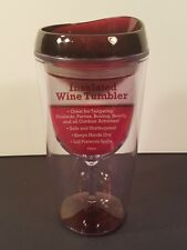 Red Clear Merlot Top 10 oz Double Wall Insulated Acrylic Travel Wine Tumbler