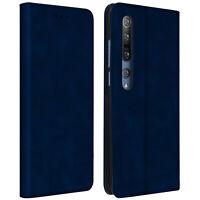 Funda Xiaomi Mi 10 / 10 Pro de Piel y Cartera con F. Soporte - Azul Oscuro