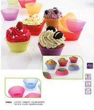 Mastrad F44034 Set 6 Stampi Stampini Colorati per Muffins Cupcakes Crostatine