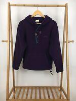 VTG 90s LL Bean Women's Hooded Fleece Pullover Sweater Size S USA RARE