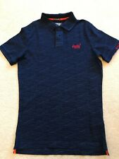 FAB MENS NAVY BLUE SUPERDRY POLO SHIRT SIZE SMALL VGC