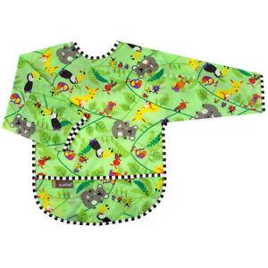 Kushies Taffeta Waterproof Bib with Long Sleeves