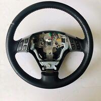 2004-09 MAZDASPEED Mazda 3 Speed OEM Steering Wheel Black LEATHER Red Stitching