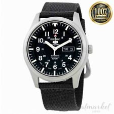Seiko 5 Watch SNZG15J1 Automatic Black Dial Men's Black Band Face Analog Japan
