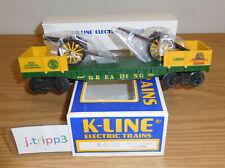 K-LINE K-6620 TCA READING FLATCAR O GAUGE TRAIN 2 CIVIL WAR CANNONS VALLEY FORGE