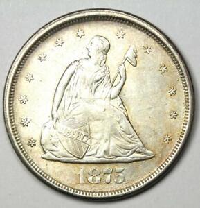 1875-S Twenty Cent Coin 20C - Choice AU / UNC MS Details - Rare Type Coin!