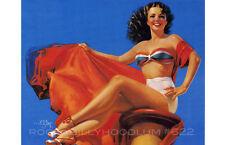 Pin Up Girl Poster 11x17 swimsuit pinup girl retro beach Zoe Mozert