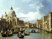 The Entrance to the Grand Canal Venice 1730 by Canaletto Old Master Canvas 24x32