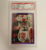 2012 Topps Chrome Purple Refractor #144 Mike Trout RC PSA 9 Mint