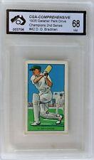 1935 Gallaher Don Bradman Card Graded Near Mint