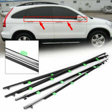 4PCS Chrome Window Moulding Trim Weatherstrip Seal Belt For Honda CRV 2007-11