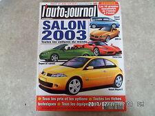 AUTO JOURNAL N°599 25/07/2002 SALON 2003    K34