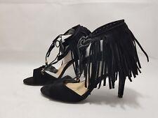ed004d84da8 New. Sole Diva Black Suede Frilled Black Sandal High Heels UK 5 EEE