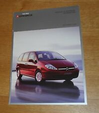 Citroen C8 Specification Brochure 2003 - LX SX Exclusive - 2.0 16v & 2.2 16v HDI