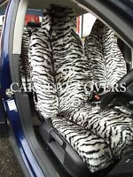 i - TO FIT A VAUXHALL INSIGNIA CAR, SEAT COVERS, 2 FRONTS, SILVER TIGER FAUX FUR