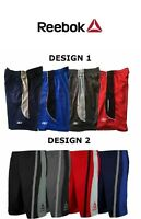 Reebok Men's Mesh Performance Basketball Shorts Two-toned Workout Gym Shorts