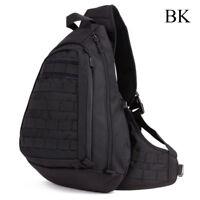 Tactical Backpack Outdoor Chest Pack Sling Single Shoulder Bag Military Molle BK