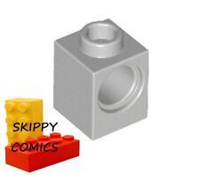 Lot x2 Lego - Brique GRIS GREY Brick Technic 1x1 Hole - 4211535 - 6541