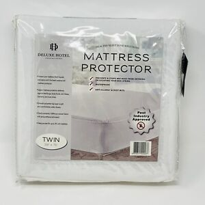 Deluxe Hotel Mattress Protector Zippered Waterproof Twin 39 x 75 Inches