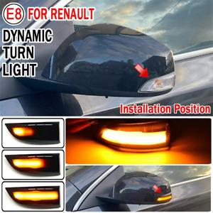 LED Dynamic Turn Signal Light Blinker Indicator for Renault Grand Megane Fluence