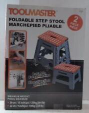 NEW OPEN BOX Toolmaster 2Pack Foldable Step Stools Orange