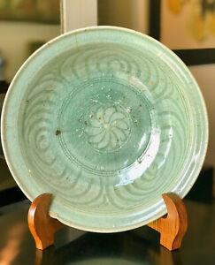 15th Century A.D. Sukhothai Large Celadon Dish