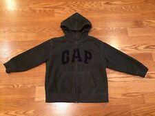 Boys Gap Kids Toddler Gray Black Hooded Sweatshirt XS 4 5 Soft Comfy