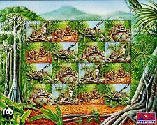 Malaysia 1995 WWF Clouded Leopard full sheet MNH