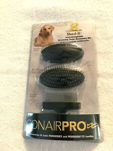 ConairPro Dog Shed-It Interchangeable Grooming Tools Accessory Kit      NEW