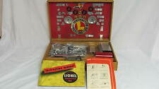 1948 Lionel Train Construction Kit #343-Wood Case Full-Manuals-Diagrams-Motor