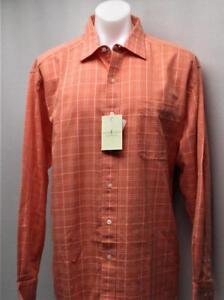 New Mens Fairway & Greene long sleeve salmon casual shirt XL