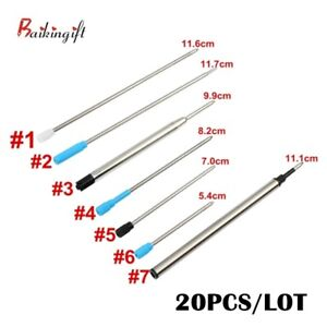 20/10/8 Pcs High quality Ballpoint Pen Refill Different Metal Sizes Pen Refills