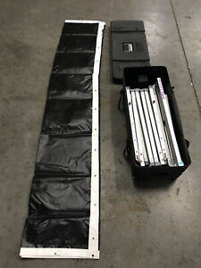 DA-LITE 7.5'x10' Fast Fold Hanging Portable Projection Screen System w/ Case