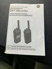 MOTOTRBO XPR 7000e series radio quick reference guide