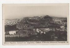 Odeon d'Herode Atticus et l'Acropole Greece Vintage RP Postcard 474a
